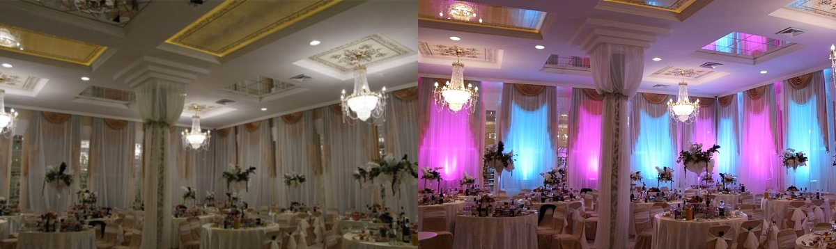 Dodatkowe Dekoracja światłem sali - Oświetlenie na wesele, imprezę firmową LX78